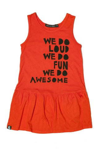 We Loud Drop Waist Dress