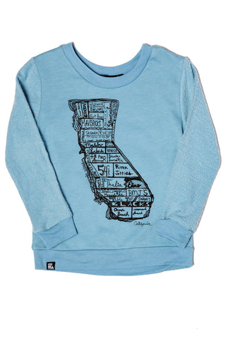 CA Map Crew Sweatshirt