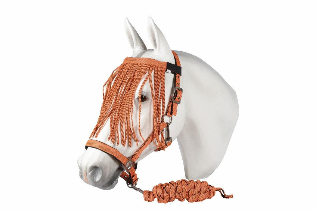 CENTURY DELUXE PADDED HALTER WITH FLY FRINGE AND LEAD
