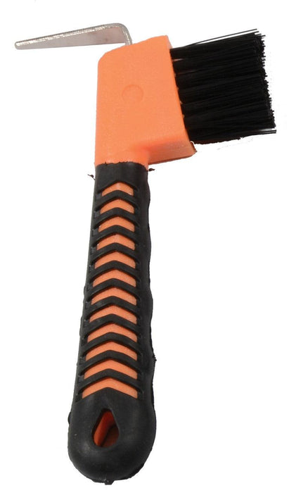 CAVALIER SOFT GRIP HOOF PICK WITH BRUSH