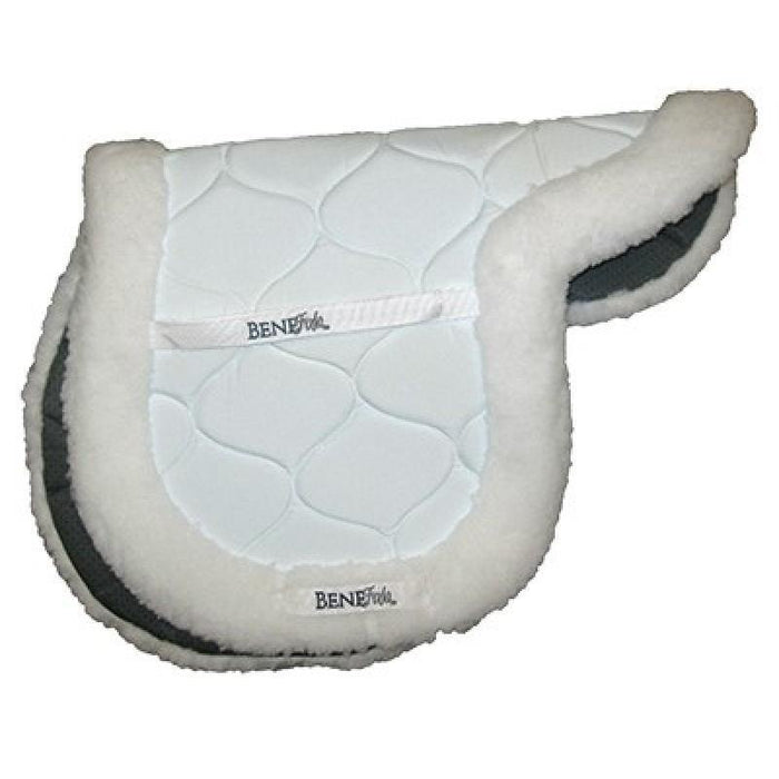 BENEFAB BY SORE NO-MORE THERAPEUTIC CERAMIC FITTED SADDLE PAD MEDIUM WHITE/BLACK - TackN'Bark