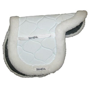 BENEFAB BY SORE NO-MORE THERAPEUTIC CERAMIC FITTED SADDLE PAD SMALL WHITE/BLACK