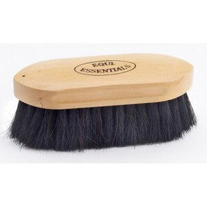 "EQUINE ESSENTIALS WOODBACK DANDY BRUSH WITH SOFT HORSE HAIR BRISTLES, SMALL - 6"" LONG"