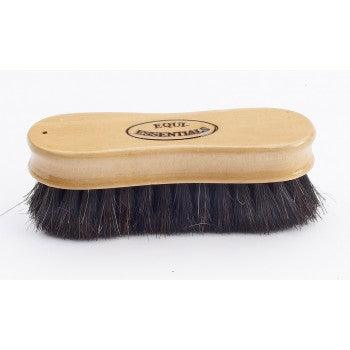 "EQUINE ESSENTIALS WOODBACK FACE BRUSH WITH SOFT HORSE HAIR BRISTLES, 5"" LONG"