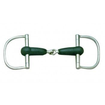 CAVALIER RUBBER MOUTH DEE RING SNAFFLE BIT