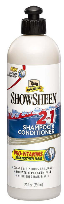 ABSORBINE SHOWSHEEN 2-IN-1 SHAMPOO & CONDITIONER, 591 ML - TackN'Bark
