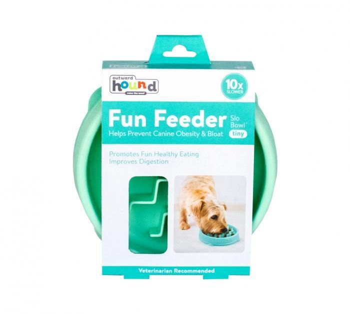 OUTWARD HOUND FUN FEEDER SLO-BOWL TINY