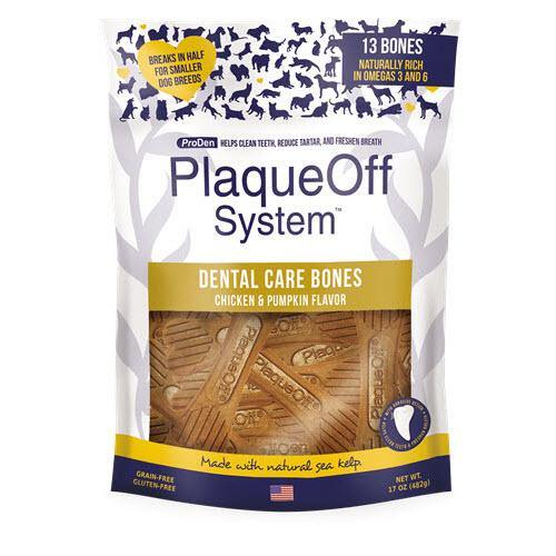 SWEEDNCAREUSA PRODEN PLAQUEOFF DENTAL BONES (CHICKEN & PUMPKIN) - TackN'Bark