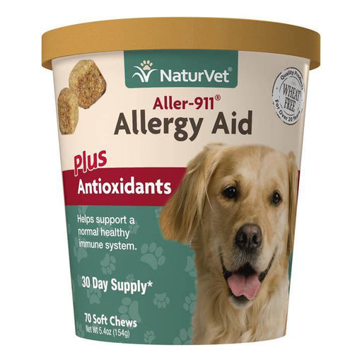 NATURVET ALLER 911 ALLERGY AID AKIN COAT SOFT CHEWS 70 CT
