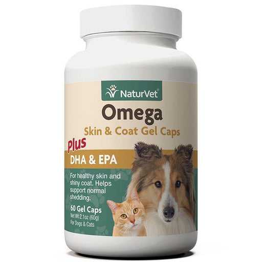 NATURVET OMEGA SKIN COAT GEL CAPS