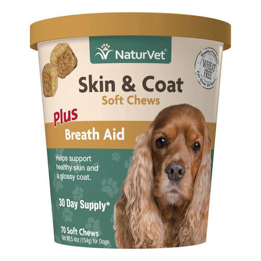 NATURVET SKIN COAT SOFT CHEWS 70 CT