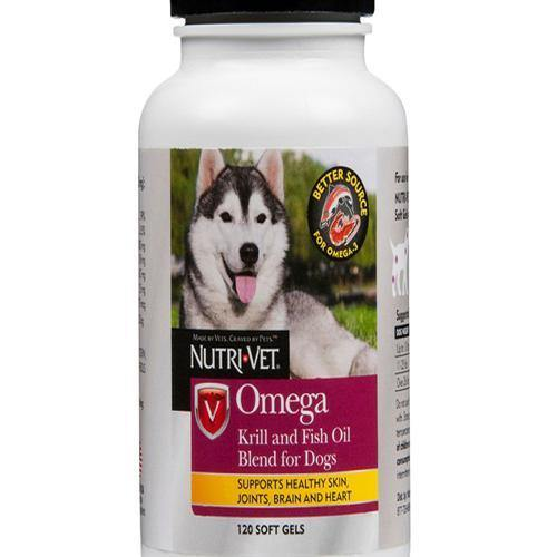 NUTRIVET OMEGA KRILL FISH OIL SOFT GELS - TackN'Bark