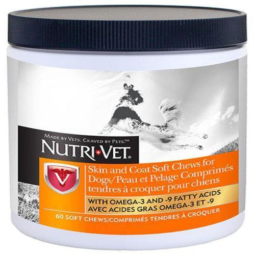 NUTRIVET SKIN AND COAT W SALMON OIL CHEWS - TackN'Bark