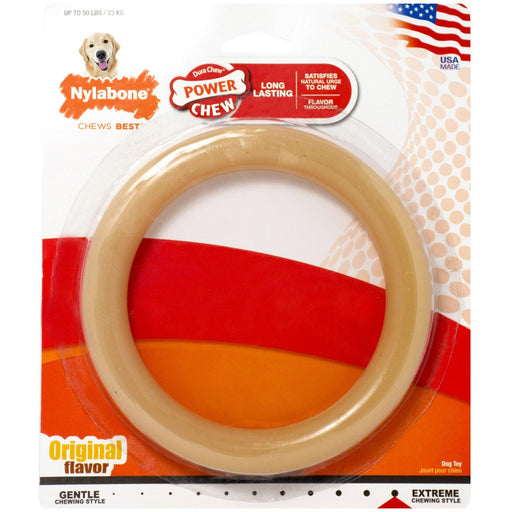 NYLABONE POWER CHEW RING CHEW TOY - TackN'Bark
