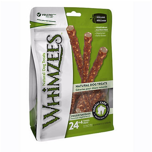 WHIMZEES VEGGIE SAUSAGE VALUE POUCH DENTAL DOG TREATS