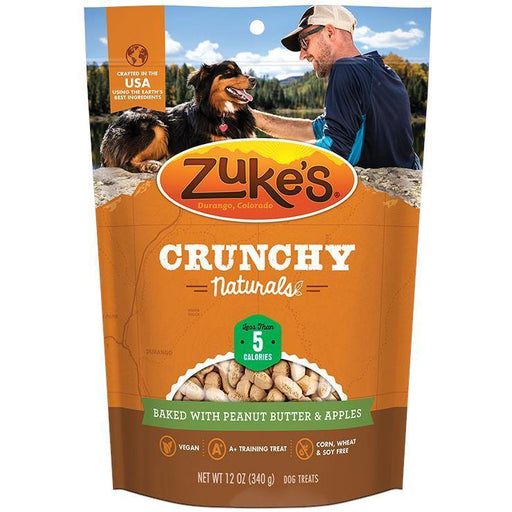 ZUKES CRUNCHY NATUALS 5S BAKED WITH PEANUT BUTTER & APPLES 12 OZ