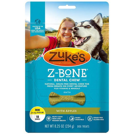 ZUKES Z-BONE WITH APPLES DENTAL DOG TREAT