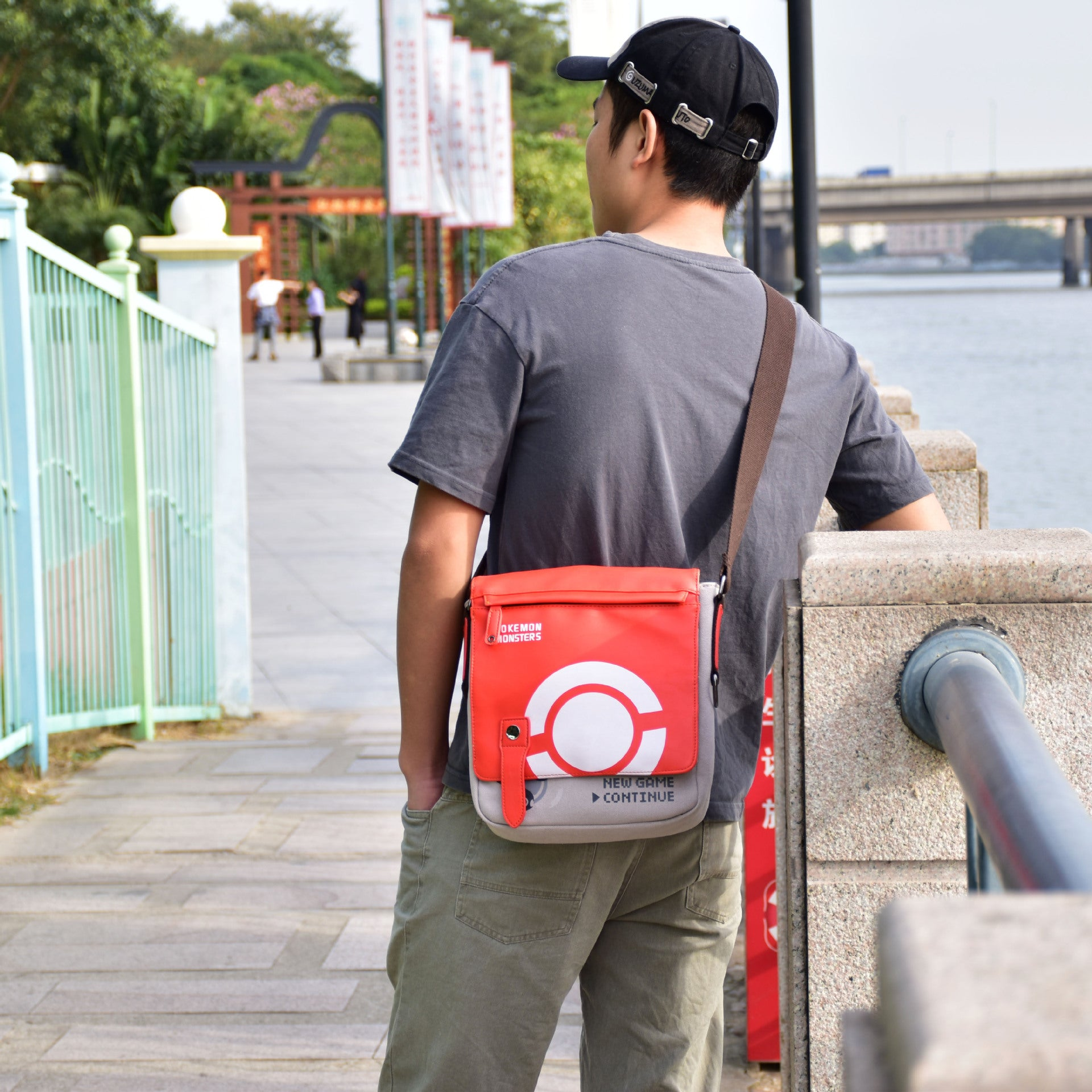 Pokemon Shoulder Bags Poke Ball Printed Creative Bag