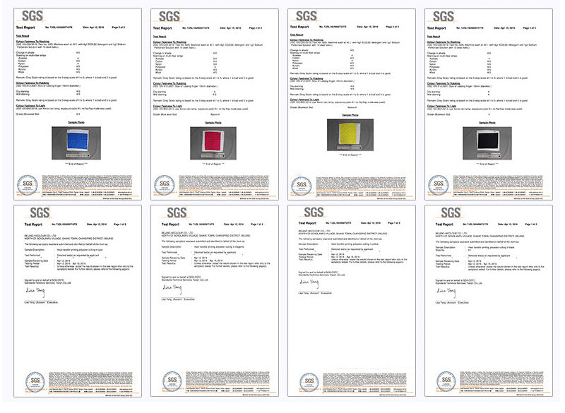 Printing and dyeing fabric test certification