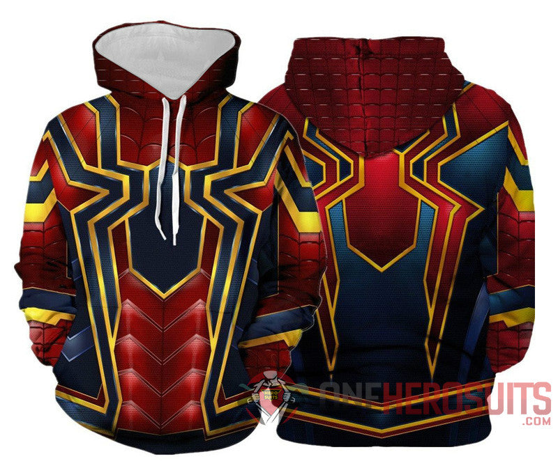 Spider-man Hoodies Creative Printed Pullover Hooded Sweatshirt Collection