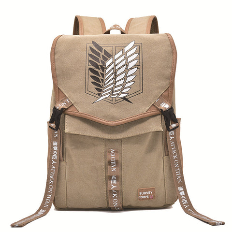 Attack On Titan Backpack The Wings Of Freedom Printed Animation Bag Ver.2