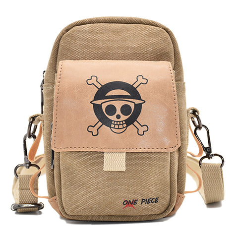 One Piece Waist Bag Straw Hat Pirates Symbol Printed 3 Pocket Bult-In Bag