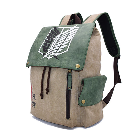 Attack On Titan Backpack The Wings Of Freedom Printed Animation Bag