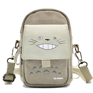 Totoro Smile Printed Waist Bag 3 Pocket - OneHeroSuits
