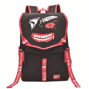 Tokyo Ghoul Backpack Ken Kaneki Face Printed Animation Bag