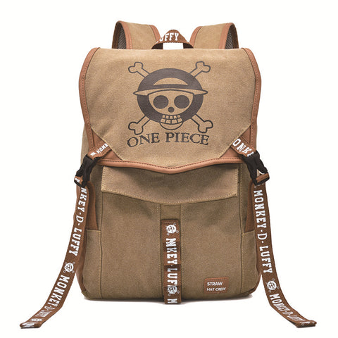 One Piece Luffy Backpack Animation Printed Backpack