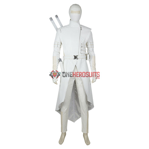 White Ninja Cosplay Costumes G I Joe Cosplay Suit Movie Level