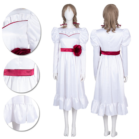 Annabelle Cosplay Costumes Halloween Horror Cosplay Suit