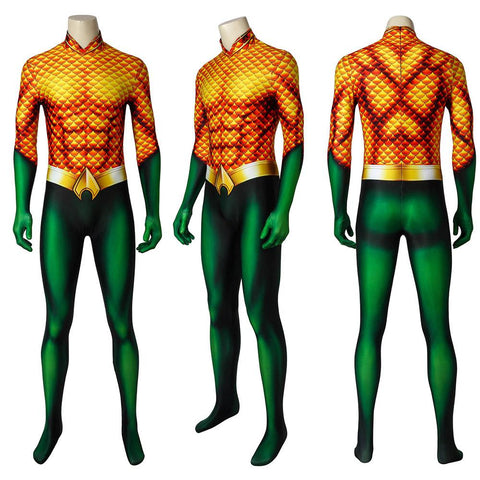Aquaman Arthur Curry Cosplay Costume 2018 Aquaman Movie Cosplay BodySuit
