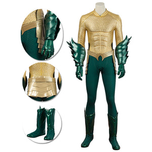 Aquaman Cosplay Costumes King Of The Seven Seas Golden Suits