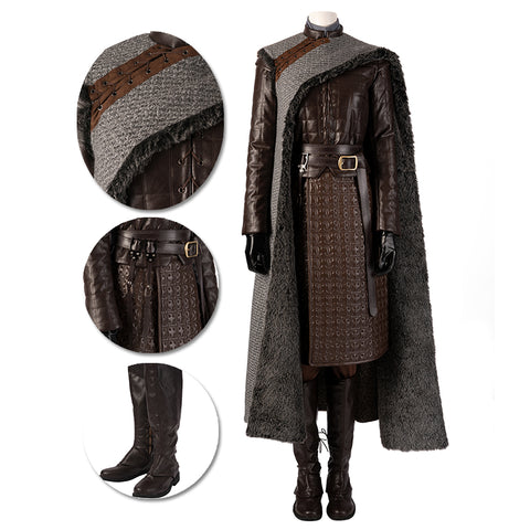 Arya Stark Cosplay Costumes Game of Thrones Season 8 Cosplay Suit Movie Level