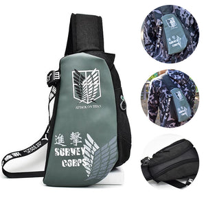 Attack On Titan Fanny Pack Survey Corps Creative Crossbody Bag