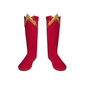 Barry Allen The Flash Season 6 red Cosplay Boots