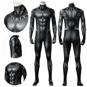 Black Panther Suit 3D Printed T'challa Bodysuit