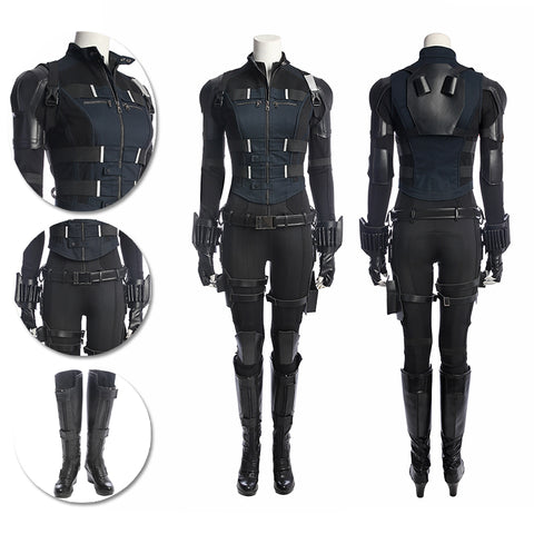 Black Widow Cosplay Costumes Classic Avengers Natasha Black Suits