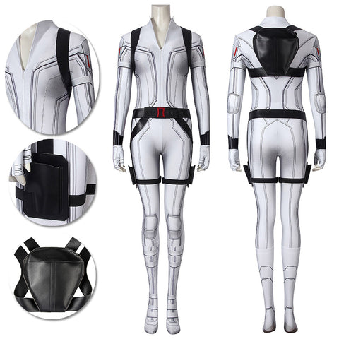 Black Widow Natasha Romanoff Cosplay Costumes White 3D Printed Cosplay Suit