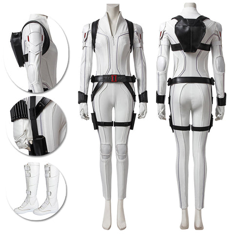 Black Widow White Cosplay Costumes Natasha Romanoff Cosplay Suit