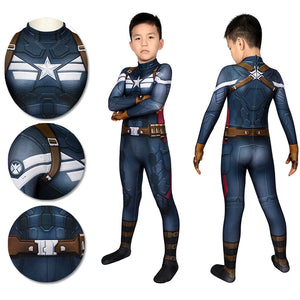 Captain America Suits For Kids Detail Printed Cosplay Costume For Halloween