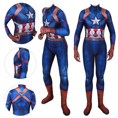 Kids/Adults Captain America 3D Printed Spandex Cosplay Bodysuit
