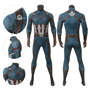 Captain America Bodysuit Battlefield 3D Painted Suit
