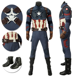 Captain America Cosplay Costumes Avengers 4 Endgame Cosplay Suit