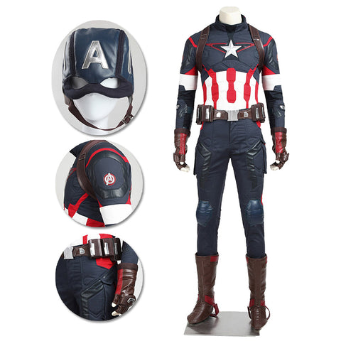 Captain America Cosplay Costumes Avengers Age of Ultron Cosplay Suit Movie Level