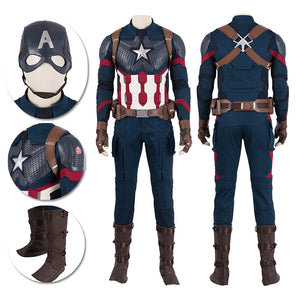 Captain America Cosplay Costumes Endgame Movie Level Suits