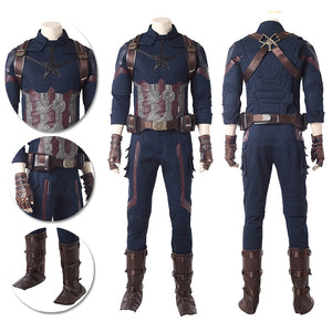 Captain America Cosplay Costumes Infinity War Movie Level Cosplay Suits