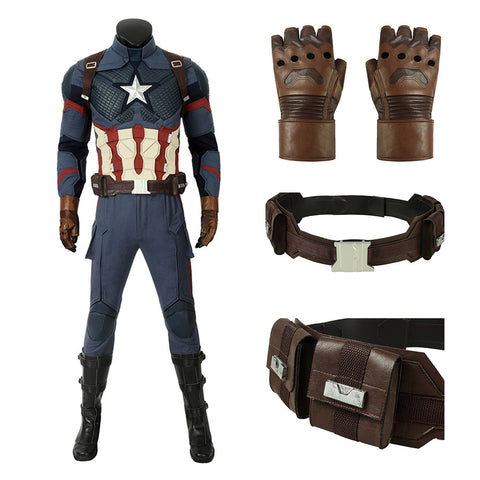 Captain America Steve Rogers Cosplay Costume Deluxe Ver.1
