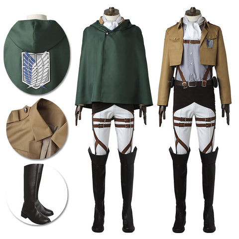 Captain Levi The Survey Corps Cosplay Costume Attack On Titan Suit